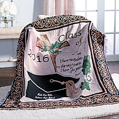 Personalized Class of 2016 Religious Graduation Throw Blanket