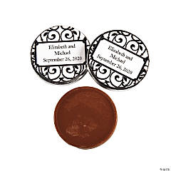 Personalized Classic Black & White Coins Chocolate Candy