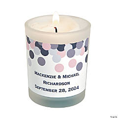 Personalized Confetti Design Votive Holders