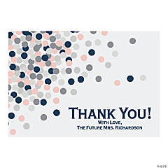 Personalized Confetti Shower Thank You Cards