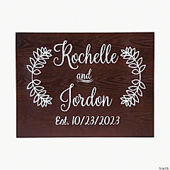 Personalized Couple?s Names Wedding Sign