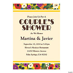 Personalized Cuban Wedding Shower Invitations
