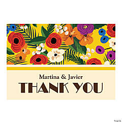 Personalized Cuban Wedding Shower Thank You Cards