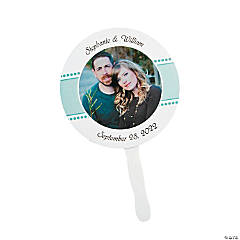 Personalized Custom Photo Round Wedding Favor Fans
