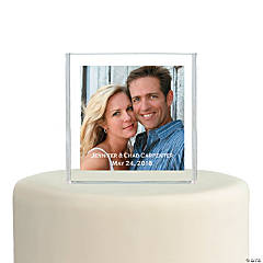 Personalized Custom Photo Square Cake Topper