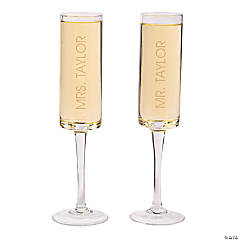 Personalized Cylinder Champagne Flutes