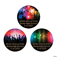 Personalized Dance Party Favor Stickers