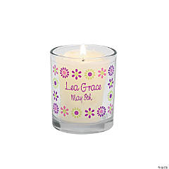 Personalized Darling Daisy Votive Candleholders