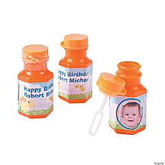 Personalized Dinosaur Custom Photo Mini Bubble Bottles
