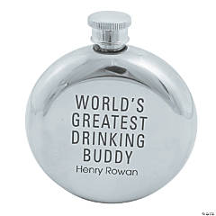 Personalized Drinking Buddy Round Flask