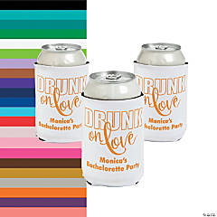 Personalized Drunk on Love Premium Neoprene Can Covers