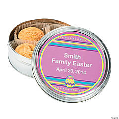 Personalized Easter Cookie Tins