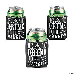 Personalized Eat Drink & Be Married Can Covers
