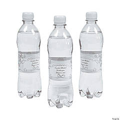 Personalized Elegant Wedding Water Bottle Labels