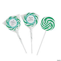 Personalized Emerald Green Swirl Pops