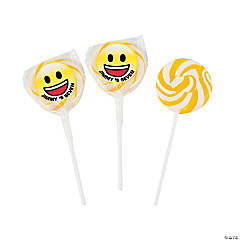 Personalized Emoji Party Swirl Lollipops