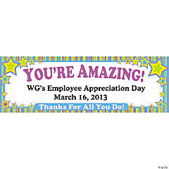 Personalized Employee Appreciation Banner - Medium