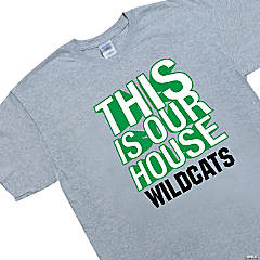 Personalized Extra Large Gray Team Spirit Shirt - This Is Our House