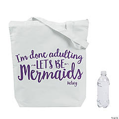 Personalized Extra Large Let's Be Mermaids Tote Bag