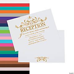 Personalized Fairy Tale Wedding Reception Cards