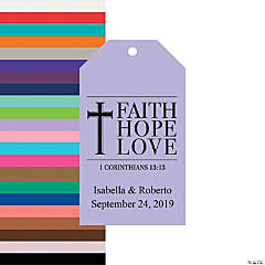 Personalized Faith Hope Love Favor Tags