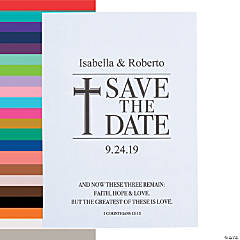 Personalized Faith, Hope, Love Save the Date Cards