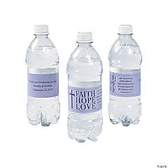 Personalized Faith, Hope, Love Water Bottle Labels