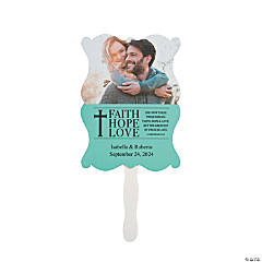 Personalized Faith, Hope, Love Wedding Favor Fans