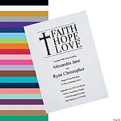 Personalized Faith Hope Love Wedding Invitations