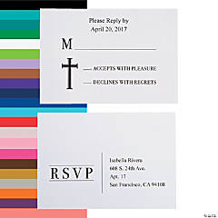 Personalized Faith Hope Love Wedding Response Cards