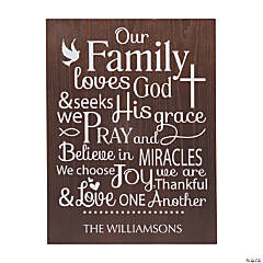 Personalized Family Religious Sign