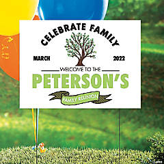 Personalized Family Reunion Yard Sign