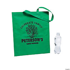 Personalized Family Tree Green Tote Bags