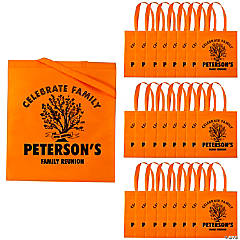 Personalized Family Tree Orange Tote Bags