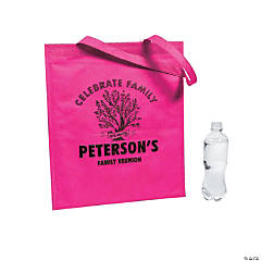 Personalized Family Tree Pink Tote Bags