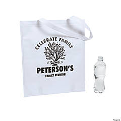 Personalized Family Tree White Tote Bags