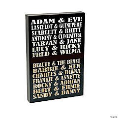 Personalized Famous Couples Wall Sign