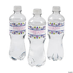 Personalized Fiesta Shower Water Bottle Labels