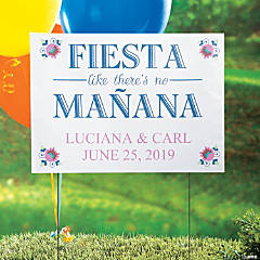 Personalized Fiesta Wedding Shower Yard Sign