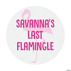 Personalized Flamingle Favor Stickers