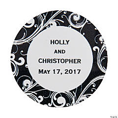Personalized Flourish Favor Stickers