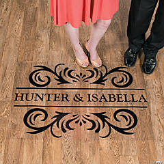 Personalized Flourish Names Floor Decal
