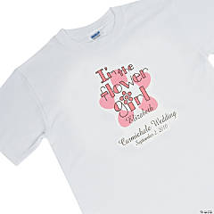 Personalized Flower Girl White T-Shirt - Youth Small (6-8)