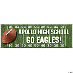 Personalized Football Field Banner  (MD)