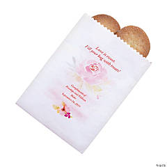 Personalized Garden Party Cake Bags