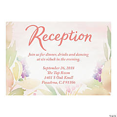 Personalized Garden Party Reception Cards