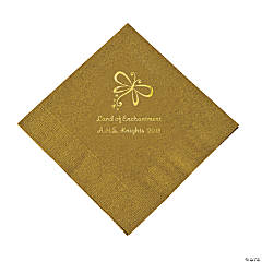 Personalized Gold Enchantment Luncheon Napkins
