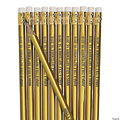 Personalized Gold Pencils