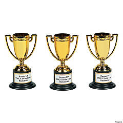 Personalized Goldtone Trophies