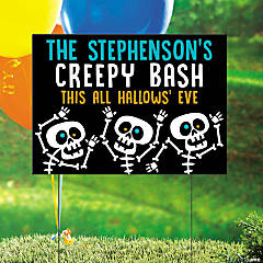 Personalized Goofy Ghouls Yard Sign